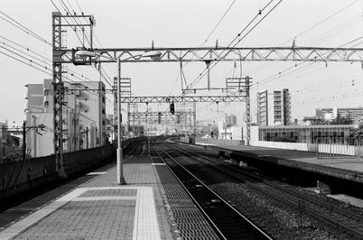 A. Henry Rose UTSOA architecture Japan Japanese Railway Railroad Nankai 35mm black and white film